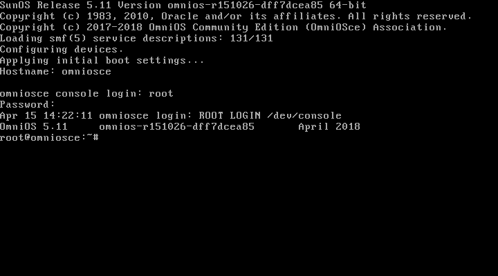 Login as root